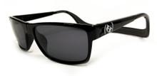 Hoven Monix Sunglasses - Black Gloss - Grey Polarized - Floatable