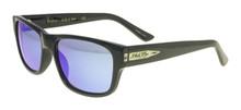 Black Flys McFly Sunglasses - Shiny Black - Blue Mirror Lenses