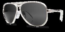 Electric AV1 Aviator Sunglasses - Large Platinum - Melanin Grey