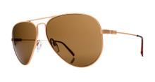 Electric AV1 Aviator Sunglasses - Small Gold - Melanin Bronze