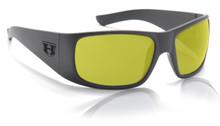 Hoven Ritz Sunglasses - Black on Black - Yellow Lenses