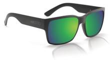 Hoven Mosteez Sunglasses - Black on Black - Green Chrome Polarized - 51-9964