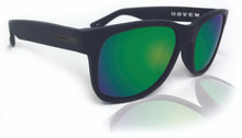 Hoven Lil Risky Sunglasses - Black on Black Matte - Green Chrome Polarized - 93-9964