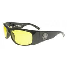 Black Flys Fly Ballistics Safety Glasses - Shiny Black - Yellow Lenses - ANSI Certified