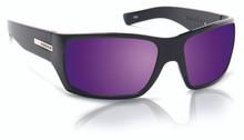 Hoven Times Sunglasses - Black Matte  - Purple Haze Polar