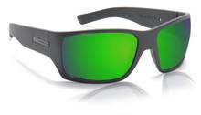 Hoven Times Sunglasses - Black Matte - Green Chrome Polarized - 43-0264