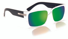 Hoven Mosteez Sunglasses - Clear/Black - Green Chrome Polarized - 51-2264