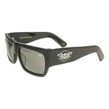 Black Flys Casino Fly Sunglasses - Shiny Black - Smoke Polarized Lenses