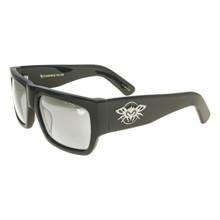 Black Flys Casino Fly Sunglasses - Shiny Black - Silver Mirror Lenses