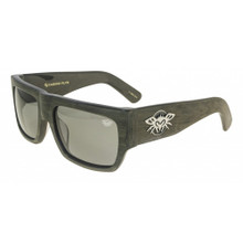 Black Flys Casino Fly Sunglasses - Brown Wood - Smoke Lenses