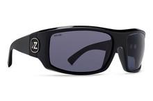 Von Zipper Clutch Sunglasses - Black Gloss - Wildlife Vintage Grey Polar