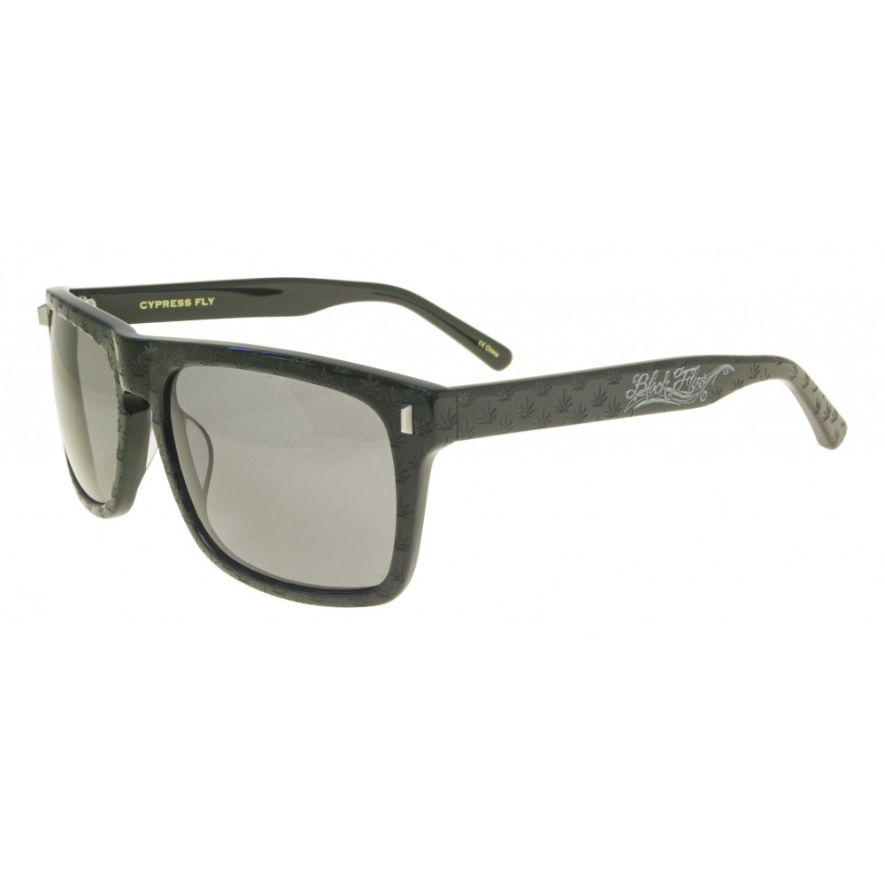 d9ee7fab25 Black Flys Cypress Fly Sunglasses - Shiny Black with Smoke ...