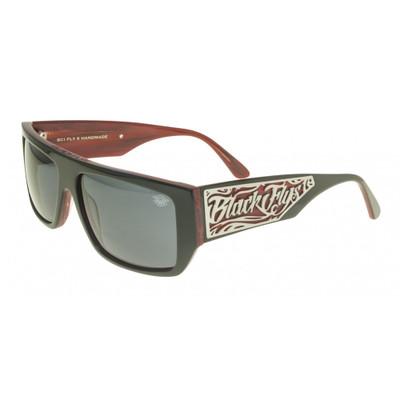 Black Flys Sci Fly 6 Sunglasses - Black/Red - Smoke - New
