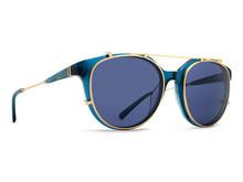 Von Zipper Hyde Sunglasses - Dark Navy Trans Gold - Clear Gold Grey - HYD-NGV