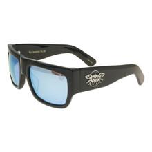 Black Flys Casino Fly Sunglasses - Shiny Black - Blue Mirror