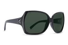 Von Zipper Trudie Sunglasses - Black Gloss - WL Vintage Grey Polar - TRU-PBV