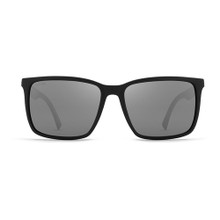 Von Zipper Lesmore Sunglasses - Black Satin - Wild Vintage Grey Silver Flash Polar - LES-PVC