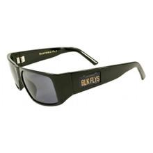 Black Flys Santeria Fly Sunglasses - Cali Plate - Shiny Black - Smoke Polar