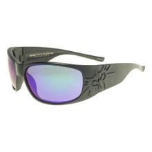 Black Flys Sonic 2 Floating Sunglasses - Matte Black - Green Blue Mirror Polar