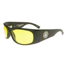 Black Flys Fly Ballistics Safety Glasses - Matte Black Frame - Yellow Lenses - ANSI Certified