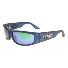 Black Flys Sonic Fly Sunglasses - Matte Blue - Polar Blue Green Mirror