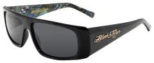 Black Flys Slightly Stoopid Collab Sunglasses - Shiny Blk-Smoke w/Art