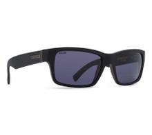 Von Zipper Fulton Sunglasses - Black Smoke Satin - Wild Vintage Grey Polarized - FUL-PSV