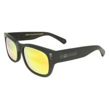 Black Flys Sullen 2 Sunglasses - Black Chrome Logos - Matte Black - Gold Mirror