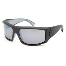 Von Zipper Clutch Sunglasses - Black Satin - Silver Chrome - CLU-BKN