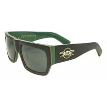 Black Flys Pulse Fly Sunglasses - Steel Pulse Collab - Smoke Polarized