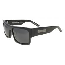 Black Flys Fly Menace Sunglasses - Shiny Black - Smoke Polar