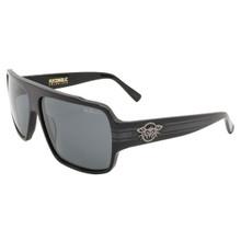 Black Flys Flycoholic Sunglasses - Shiny Black - Smoke Polarized Lenses