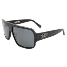 Black Flys Flycoholic Sunglasses - Matte Black - Smoke Polarized Lenses