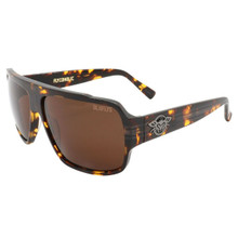 Black Flys Flycoholic Sunglasses - Shiny Tortoise - Brown Lenses