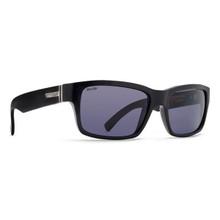 Von Zipper Fulton Sunglasses - Black Gloss - Wild Grey Polarized - FUL-PBV