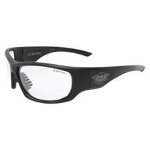 Black Flys Fly Defense Safety Glasses - Matte Black - Clear Z87