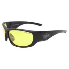 Black Flys Fly Defense Safety Glasses - Matte Black - Yellow Z87