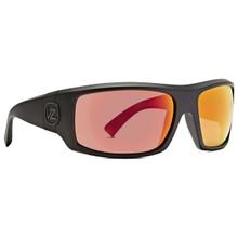 Von Zipper Clutch Sunglasses - Satin Black - Lunar Chrome - CLU-BLN