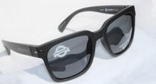 Hoven Merit Sunglasses - Matte Black - Grey Polarized