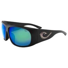 Black Flys Tahitian Hooker Sunglasses - Matte Black - Blue Mirror Polarized