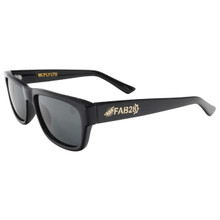Black Flys FAB 28 McFly LTD Sunglasses - Shiny Black - Smoke Polarized