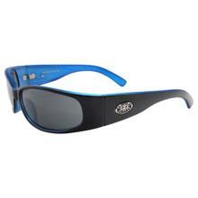 Black Flys Micro Fly 2 - Shiny Black - Blue - Smoke Polarized