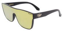 Black Flys Mono Fly Sunglasses - Matte Black - Gold Mirror Lens