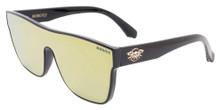 Black Flys Mono Fly Sunglasses - Shiny Black - Gold Mirror Lens
