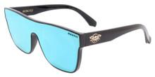 Black Flys Mono Fly Sunglasses - Shiny Black - Blue Mirror Lens