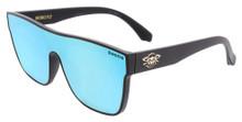 Black Flys Mono Fly Sunglasses - Matte Black - Blue Mirror Lens
