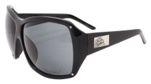 Flygirls On The Fly Sunglasses - Shiny Black - Smoke Lens