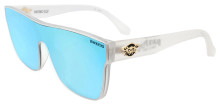 Black Flys Mono Fly Sunglasses - Matte Clear - Blue Mirror Lens