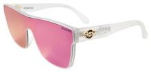 Black Flys Mono Fly Sunglasses - Matte Clear - Violet Mirror Lens