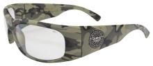 Black Flys Fly Ballistics 2 Safety Glasses - Nam Camo - Z87 Clear